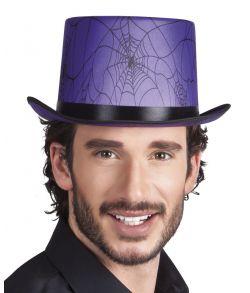 Lilla høj hat med spindelvæv