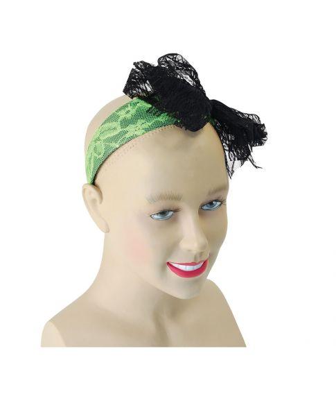 Neongrønt hårbøjle