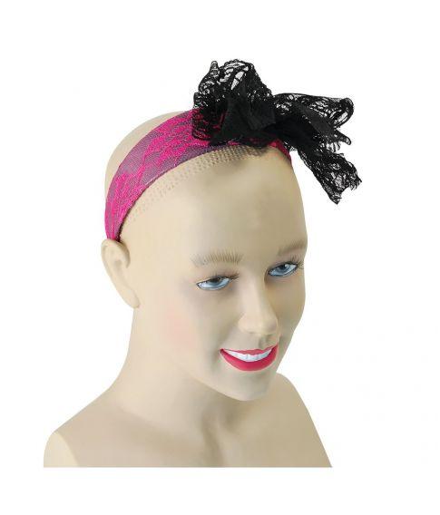 Neonpink hårbøjle