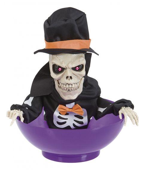 Slikskål med skelet