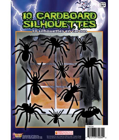 Edderkop silhuetter