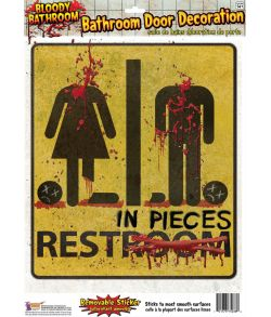 Blodigt toiletskilt