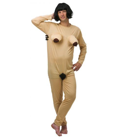 Nøgen dame kostume