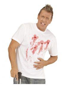 T-shirt med skudhuller