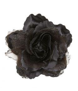 Sort rose hårklips