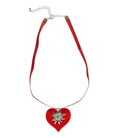 Hjertehalskæde med Edelweiss