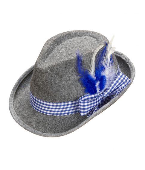 Tyrolerhat med blåt bånd