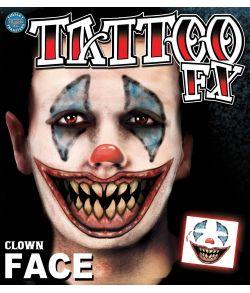 Clown Face tatovering
