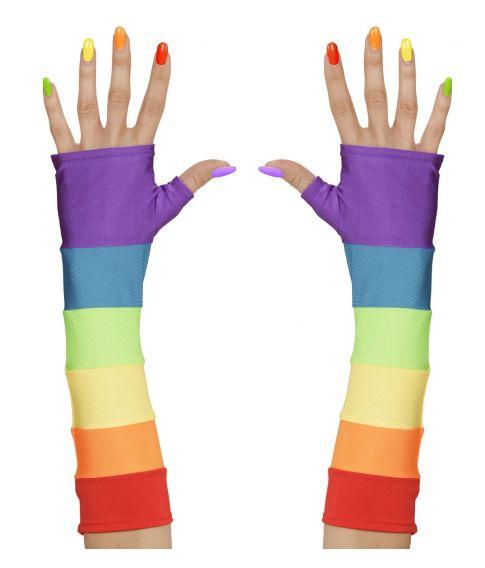 Lange regnbue handsker