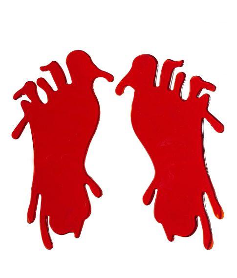 Blodige fodaftryk