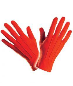 Røde korte handsker