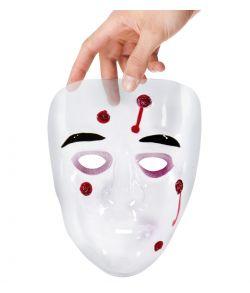 Klar maske med skudhuller