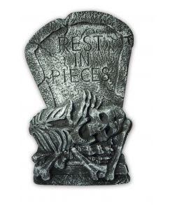 Gravsten med skelet