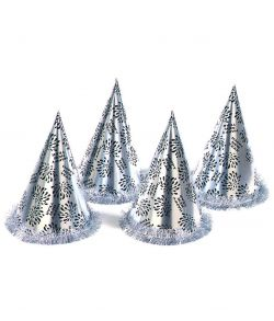 Sølv nytårshat, kegle