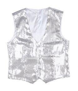 Sølv pailletvest