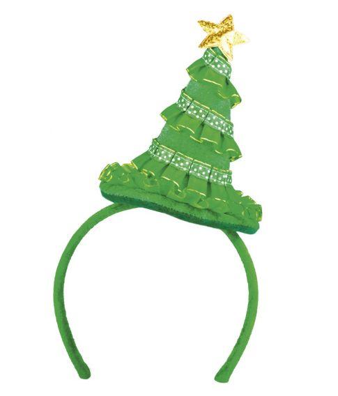 Hårbøjle med juletræ