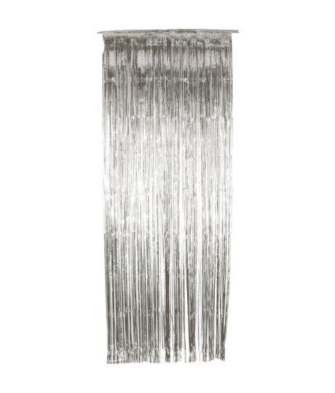 Sølv folie dørgardin