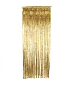 Guld folie dørgardin