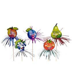 Cocktailsticks med frugter