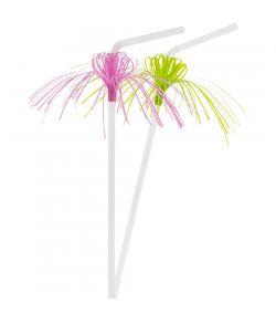 Sugerør med neon palmer