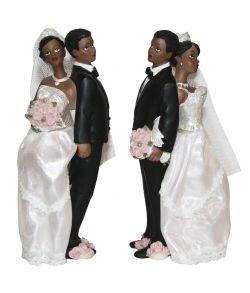 Brudepar, mørkt par