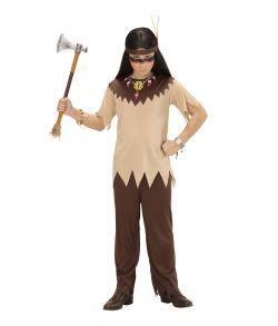 Indianer dreng kostume