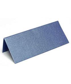 Bordkort metallic mørkeblå