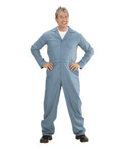 Blå Overall kostume