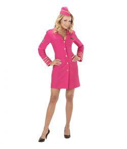 Stewardesse kostume, Pink