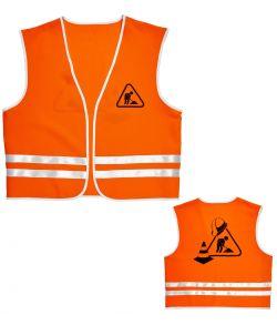 Orange sikkerhedsvest