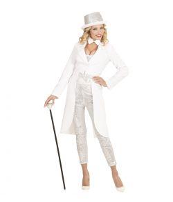 Hvid svalehale jakke