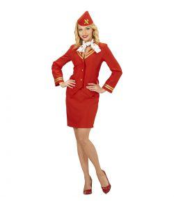 Stewardesse kostume, Rød