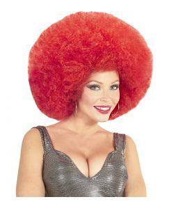 Rød afroparyk, stor
