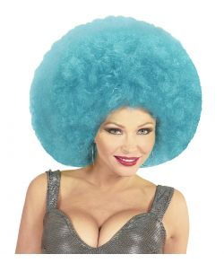 Blå afroparyk, stor
