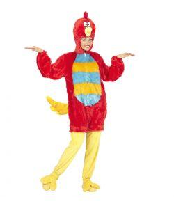 Fugle kostume, rødt
