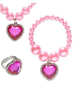 Prinsesse smykkesæt, pink
