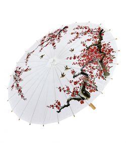 Hvid Orientalsk parasol