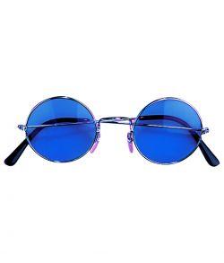 Blå runde briller