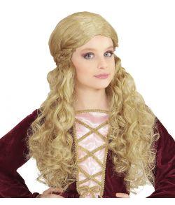 Blond middelalder paryk