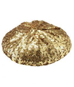 Guld paillet beret