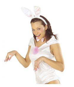 Hvidt Bunny sæt