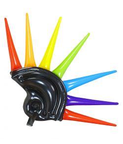 Oppustelig hjelm med pigge