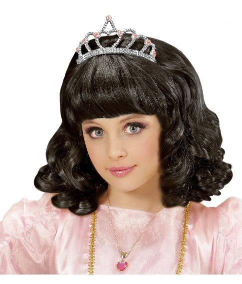 Sort Prinsesse paryk, barn