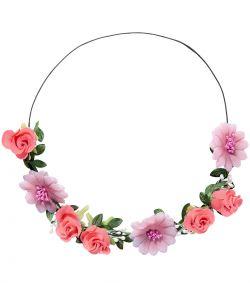 Pink blomsterkrans