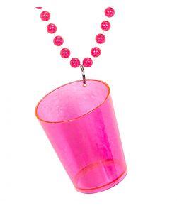 Pink shotglas i kæde