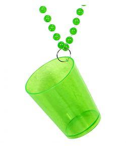 Grønt shotglas i kæde
