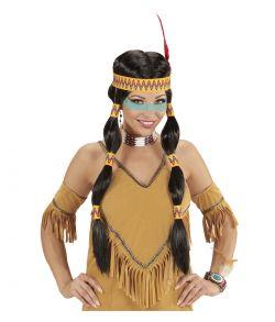 Squaw indianer paryk
