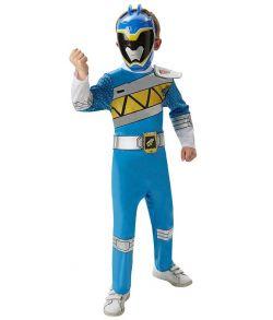 Blå Power Ranger kostume