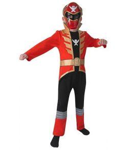 Rød Power Ranger kostume