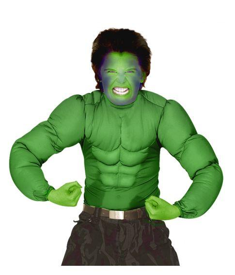 Grøn muskelbluse